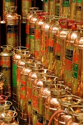 Koorsen Museum Old Brass Fire Extinguishers