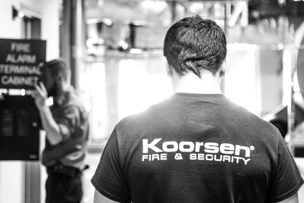 Two Koorsen Techs Fire Alarm Panel