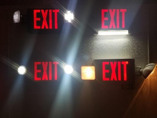 Four Exit Lights