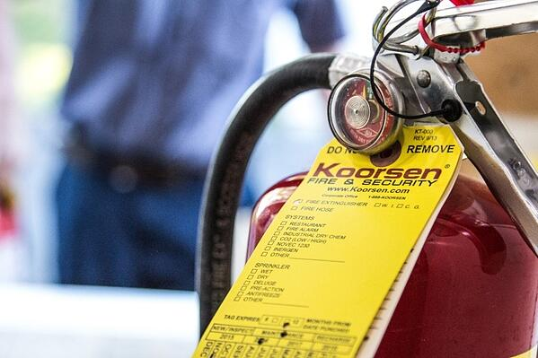 Extinguisher with Tags