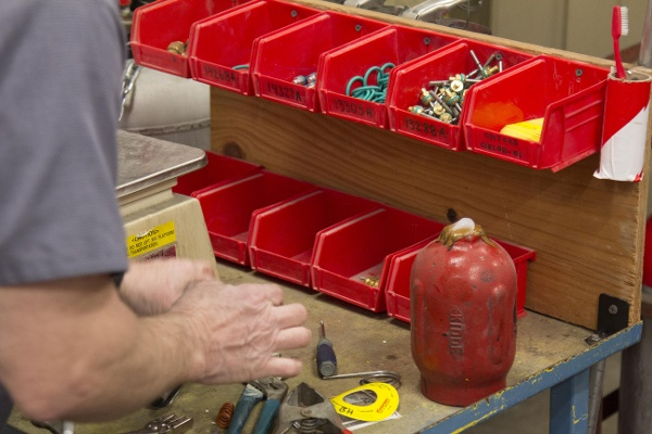 Fire Extinguisher Parts Bench