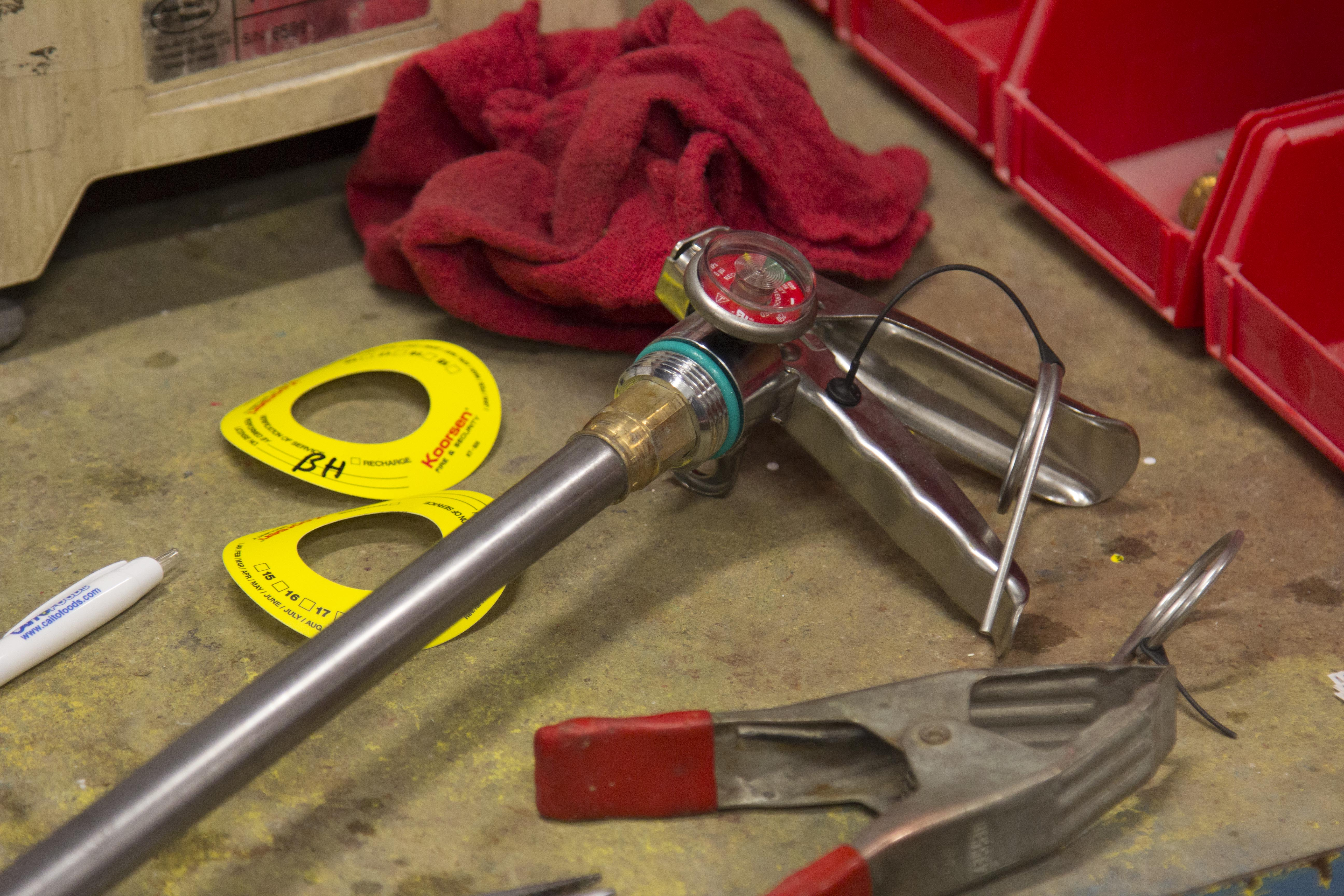 Fire extinguisher valve and o-rings.