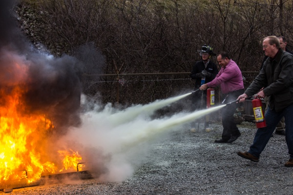 Fire Extinguisher Training Demo Open Burn