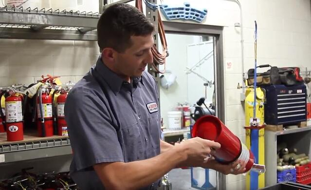 Visually Inspect the Fire Extinguisher