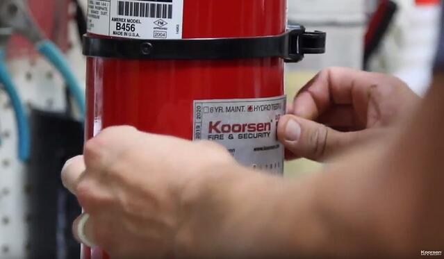 Apply Fire Extinguisher ID and Labels