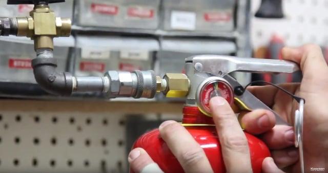 Pressurize Fire Extinguisher Cylinder