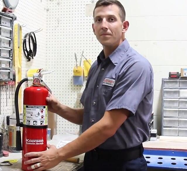 Completed Hydrostatic Test of Fire Extinguisher