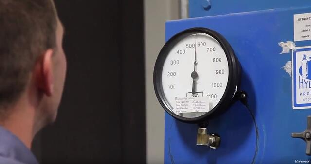 Fire Extinguisher Hydrostatic Test Pressure Gauge