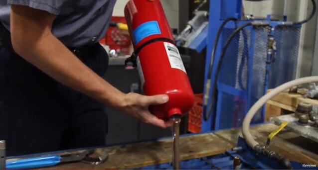 Dry Out Fire Extinguisher Cylinder