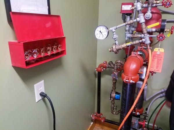 fire sprinklers cabinet