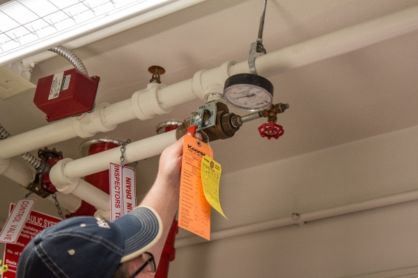 Arsenal Tech Fire Sprinkler Pipe Inspecting Tags