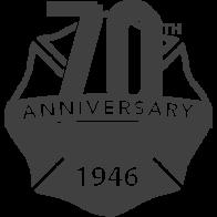 koorsen 70th anniversary emblem