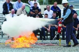 how to operate fire extinguishers