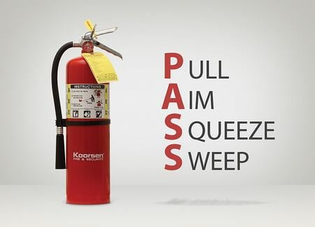 PASS Method for Using Fire Extinguisher