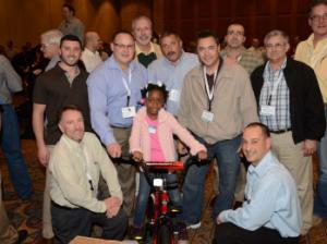 Koorsen Fire & Security build bikes at Siemens Partner Summit