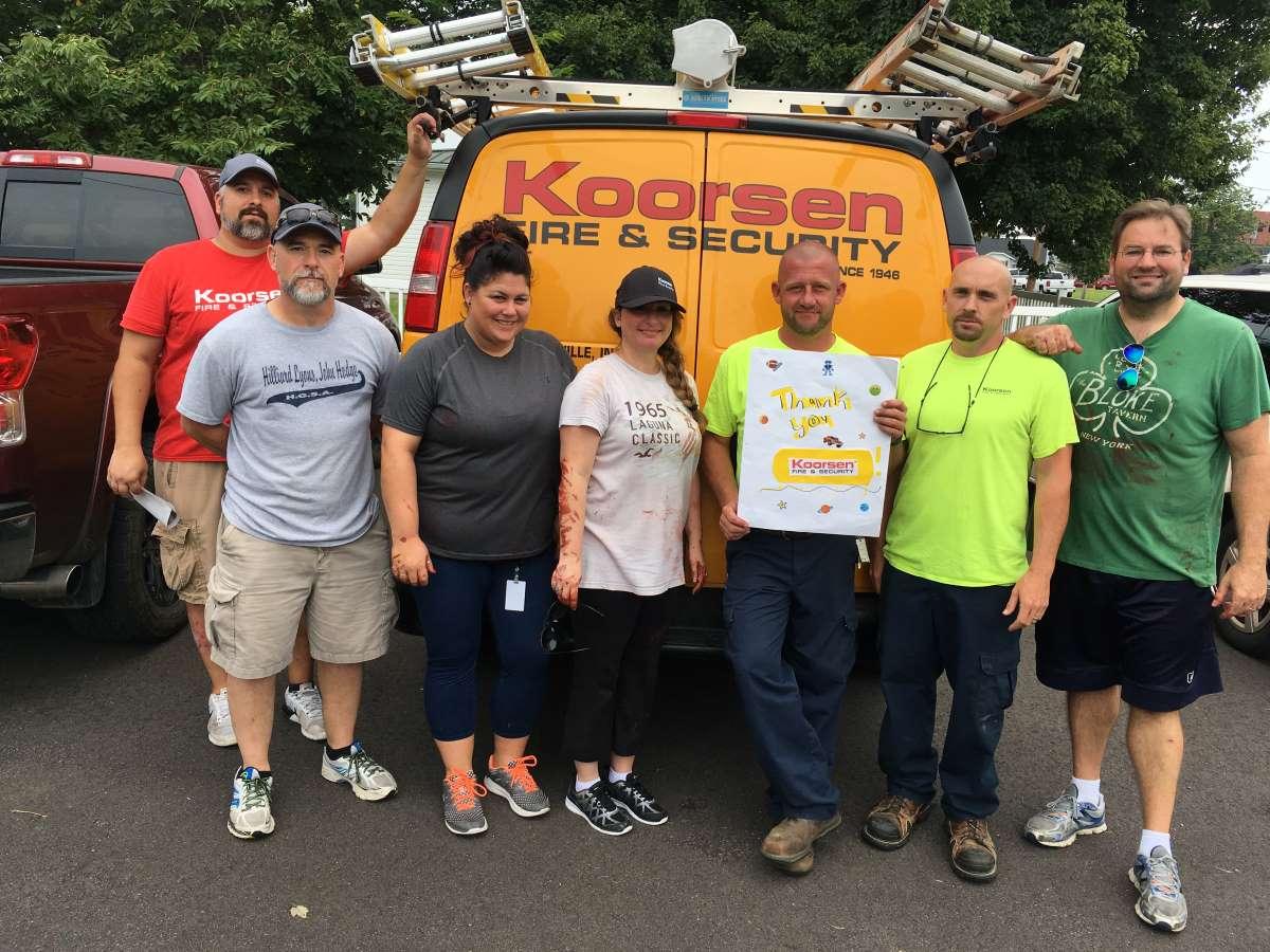 Koorsen Evansville Branch Riverview School 2017 Community Outreach Team